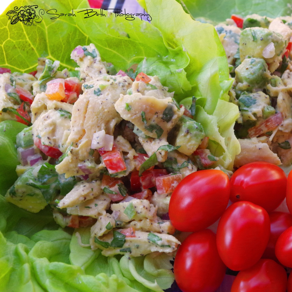 Chicken Avo Salad - sarahbeth with watermark